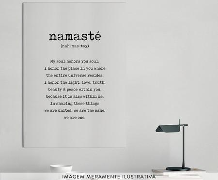 Placa de Madeira Estampada Namasté | WestwingNow
