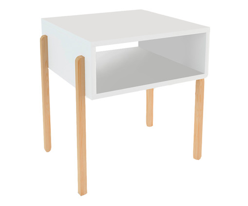 Mesa de Cabeceira Tomielo - Branca, branco | WestwingNow