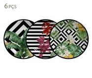 Jogo de Pratos para Sobremesa em Cerâmica Tropicalha 06 Pessoas - Colorido | WestwingNow