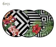 Jogo de Pratos Rasos em Cerâmica Tropicalha 06 Pessoas - Colorido | WestwingNow