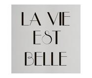 Placa de Madeira Estampada La Vie Est Belle | WestwingNow