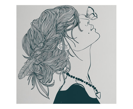Placa de Madeira Estampada Menina com Borboleta | WestwingNow
