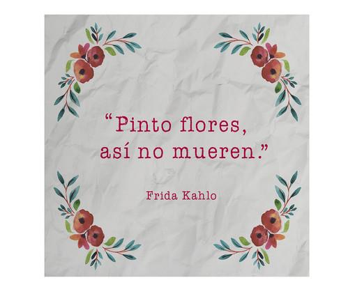 Placa de Madeira Estampada Pinto Flores, Así No Mueren, Colorido | WestwingNow