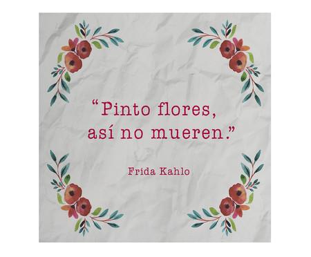 Placa de Madeira Estampada Pinto Flores, Así No Mueren | WestwingNow