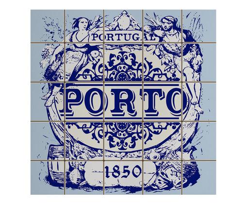 Placa de Madeira Estampada Porto, Colorido | WestwingNow