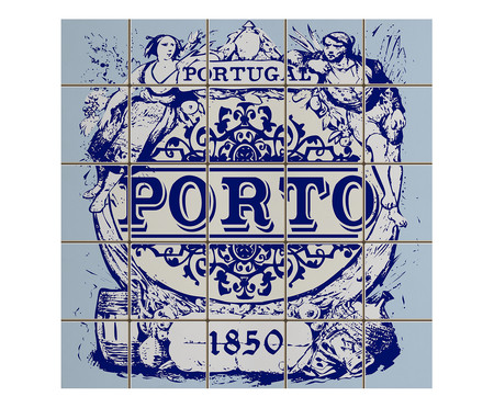 Placa de Madeira Estampada Porto   WestwingNow