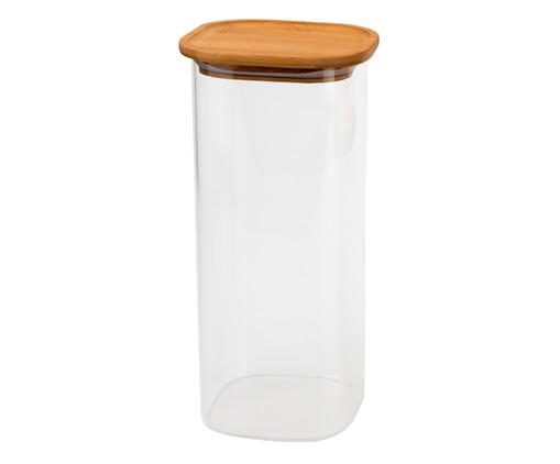Porta-Mantimentos com Tampa em Bambu Digne - 1900 ml, Transparente | WestwingNow