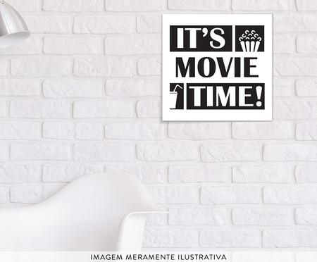 Placa de Madeira Estampada It's Movie Time! | WestwingNow