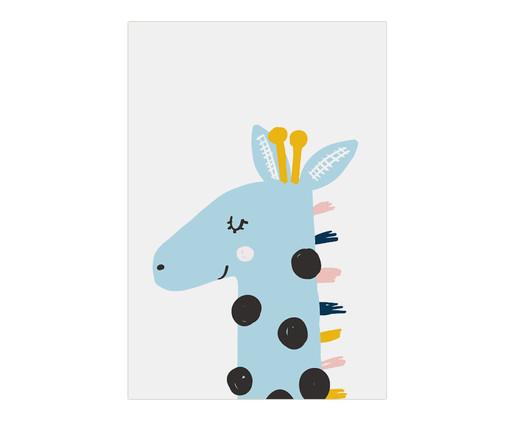 Placa de Madeira Estampada Girafa, Colorido | WestwingNow