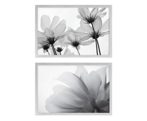 Jogo de Quadros Flowers, Preto, Branco | WestwingNow