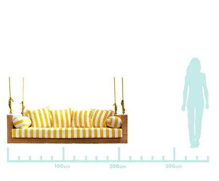 Sofá de Balanço de Fibra Sintética Maragogi - Branco e Amarelo | WestwingNow
