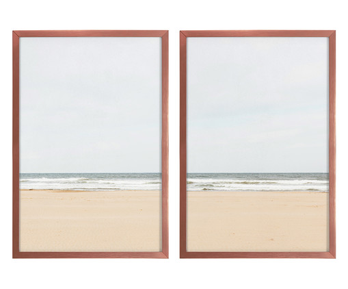 Jogo de Quadros Praia, Colorido | WestwingNow