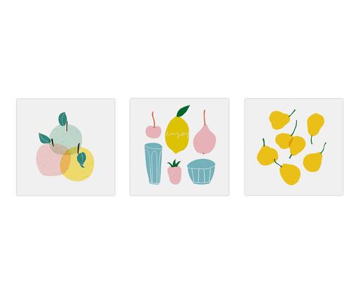 Jogo de Placas de Madeira Estampadas Tonia, Colorido | WestwingNow