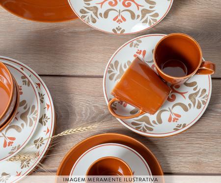Prato Raso em Cerâmica Nicolazzi - Terracota | WestwingNow