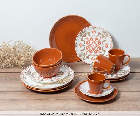Prato para Sobremesa em Cerâmica Nicolazzi - Terracota | WestwingNow