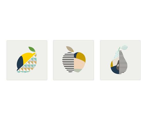 Jogo de Placas de Madeira Estampadas Tamara, Colorido | WestwingNow