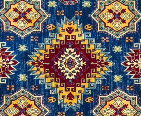 Tapete Clássico Turco Kasakh Naava - Azul | WestwingNow