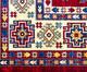 Tapete Turco Kasakh Mira - Vermelho, Creme e Azul, Vermelho, Creme e Azul   WestwingNow