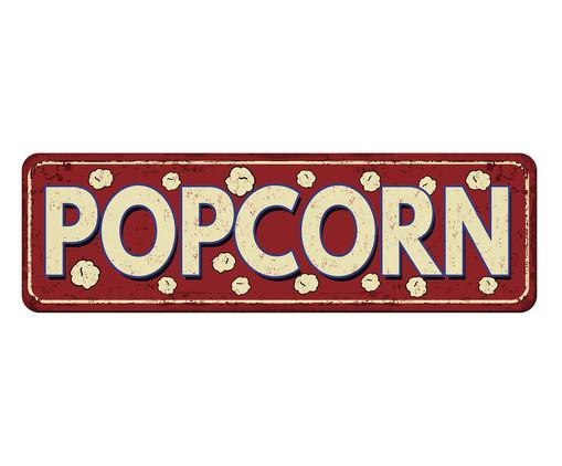 Placa de Madeira Estampada Popcorn, Colorido | WestwingNow