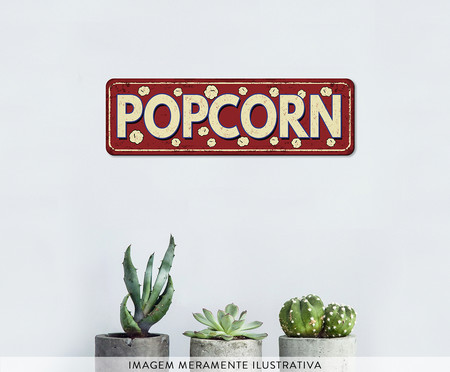 Placa de Madeira Estampada Popcorn | WestwingNow