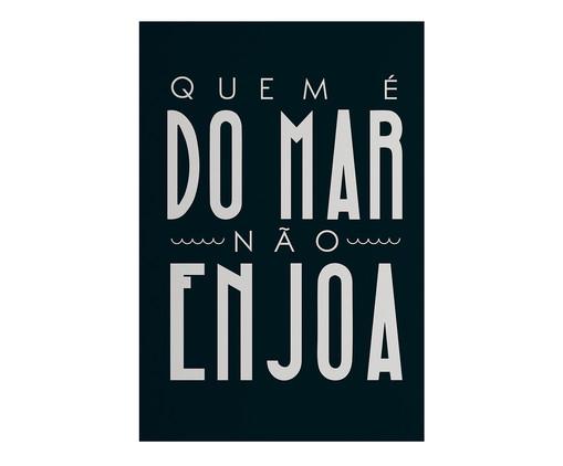 Placa de Madeira Estampada Quem É do Mar Não Enjoa, Colorido | WestwingNow