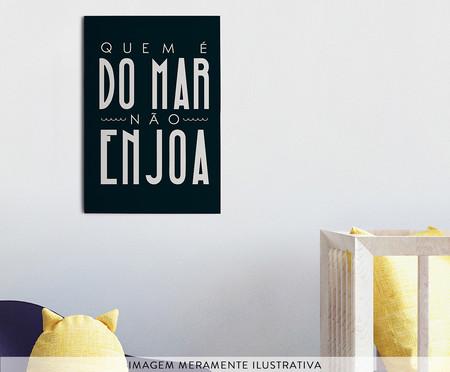 Placa de Madeira Estampada Quem É do Mar Não Enjoa | WestwingNow