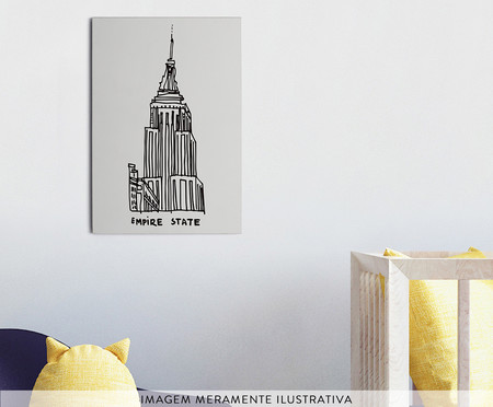 Placa de Madeira Estampada Empire State | WestwingNow