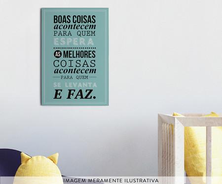 Placa de Madeira Estampada Boas Coisas Acontecem | WestwingNow