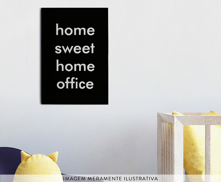 Placa de Madeira Estampada Home Sweet Home Office | WestwingNow