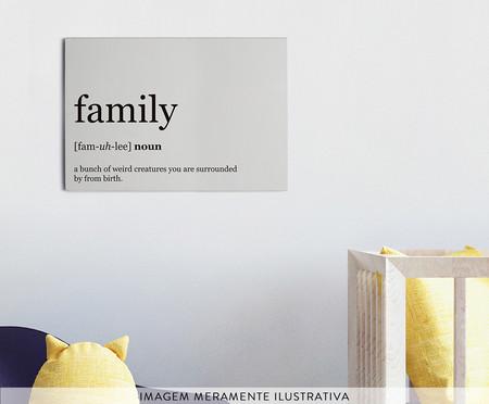 Placa de Madeira Estampada Family | WestwingNow
