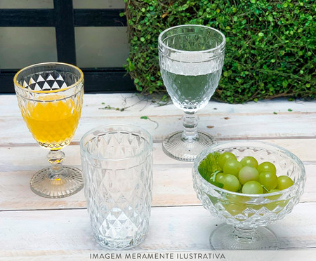 Jogo de Taças para Sobremesa em Cristal Kopani - Cinza | WestwingNow