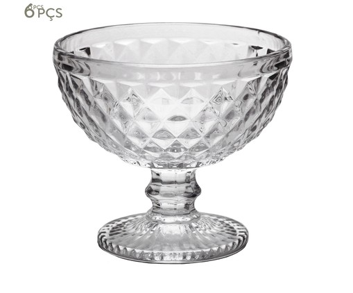 Jogo de Taças para Sobremesa em Cristal Kopani - Cinza, Transparente   WestwingNow