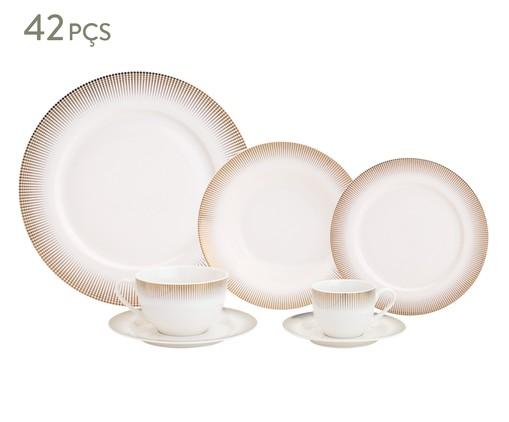 Jogo de Jantar em Porcelana Perspicace - 06 Pessoas, Branco   WestwingNow