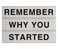Placa de Madeira Estampada Remember Why You Started | WestwingNow