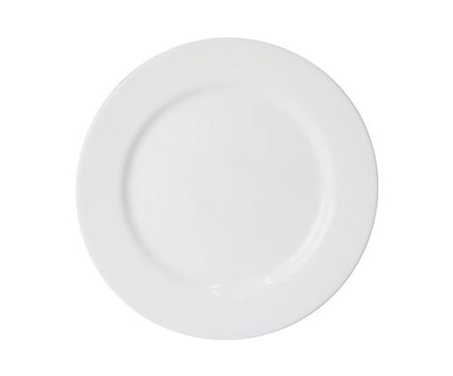 Prato Raso em Vidro Carly - Branco, Branco   WestwingNow