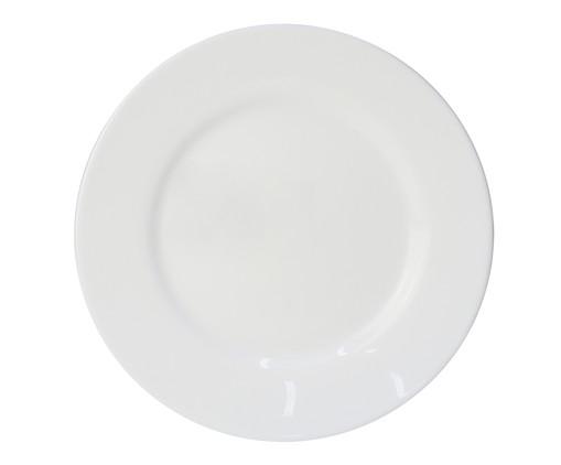 Prato para Sobremesa em Vidro Carly - Branco, Branco | WestwingNow