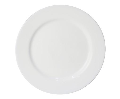 Prato Raso em Vidro Carly - Branco, Branco | WestwingNow