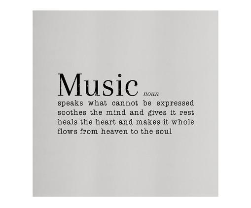 Placa de Madeira Estampada Music, Preto, Branco | WestwingNow
