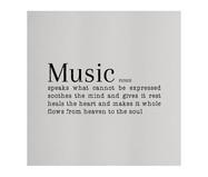 Placa de Madeira Estampada Music | WestwingNow