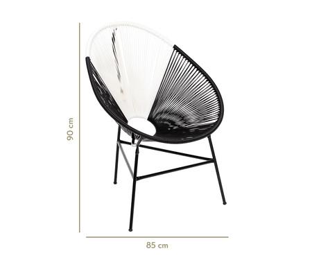 Cadeira Acapulco Monterrey - Preto e Branco   WestwingNow