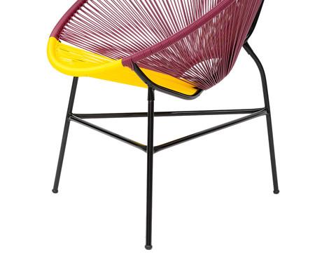 Cadeira Acapulco Oaxaca - Vinho e Amarelo | WestwingNow