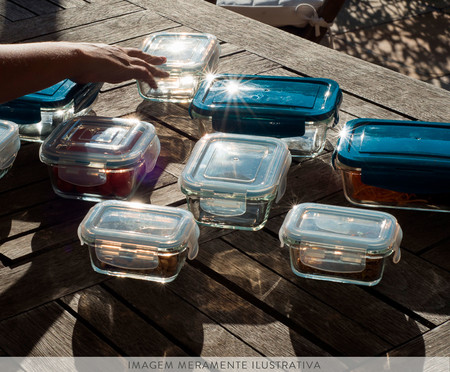 Pote Hermético de Vidro Marina Transparente - 330ml | WestwingNow