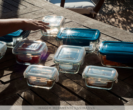 Pote Hermético de Vidro Marina Transparente - 320ml | WestwingNow