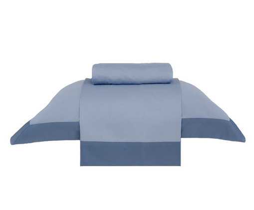 Jogo de Lençol Modern Azul - 270 Fios, Azul | WestwingNow