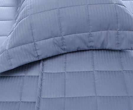 Jogo de Lençol Acetinado Damask Stripes Azul - 300 Fios | WestwingNow