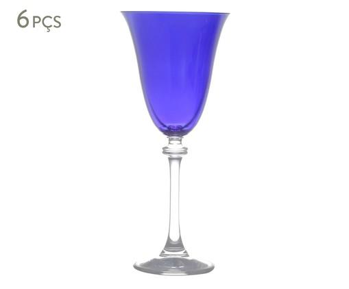 Jogo de Taças para Vinho Tinto em Cristal Ecológico Drinian - Azul, Azul | WestwingNow