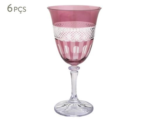 Jogo de Taças para Vinho Tinto em Cristal Ecológico Champilla - Rosa, Rosa | WestwingNow