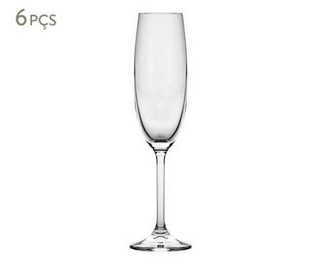 Jogo de Taças para Champagne em Cristal Ecológico Ankalli   WestwingNow