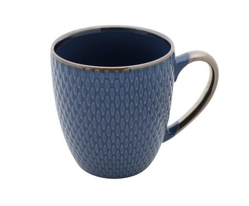 Caneca em Porcelana Steffens - Azul, Azul | WestwingNow