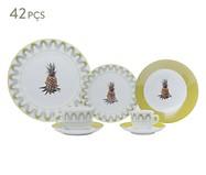 Jogo de Jantar em Porcelana Abacaxi | WestwingNow